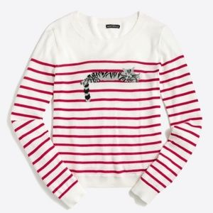 NWT J. Crew Sleepy Cat Teddie Sweater